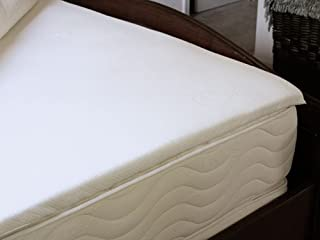 LIFEKIND Certified Organic Natural Latex Mattress Topper - Lullaby Pillow Top 1.5 Inches (California King)