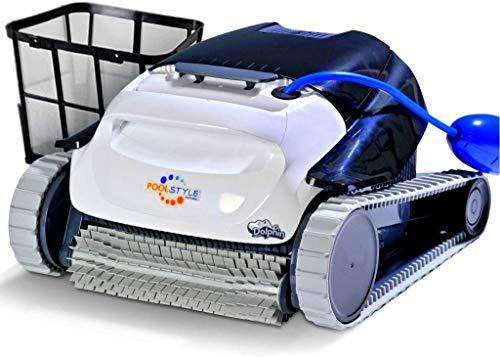 MAYTRONICS Dolphin PoolStyle AG Digital - Robot Elettrico Pulitore per Piscina Fino a 8 Mt Pulizia Fondo e Primi 30 Centimetri delle PARETI Esclusiva Italia