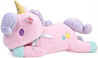 Unicorn Plush Toy   Animal Soft Stuffed Plush Dolls KidsToy Kawaii Figure Fluffy Gift For Children Pink Color