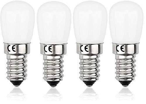 AcornSolution 240V E14 Kleine Edison-Glühlampe Kühlschranklampe 15W Halogenersatz 1.5W Mini-LED-Lampe Warmweiß 3000K E14 LED-Lampe für Kühlschrank/Mikrowelle / (4 Stück) [Energieklasse A +]