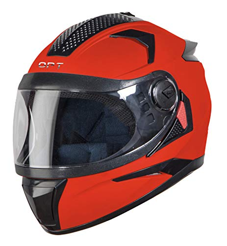 Steelbird 7Wings OPT Full Face Helmet with Free Cable Lock (Medium 580 MM, Dashing Black with Plain Visor)