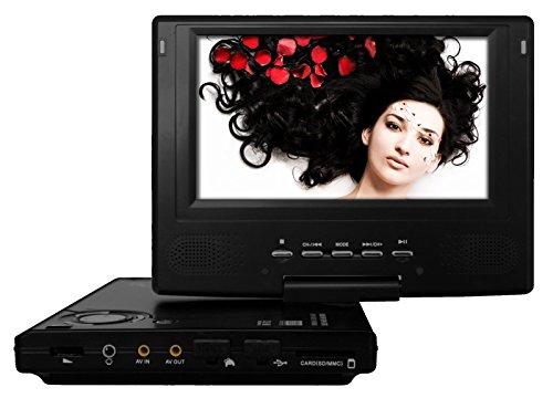 Odys Slim TV 700 R Vision Tragbarer DVD-Player mit Fernseher (17,8 cm (7 Zoll) LC-Display, DVB-T, CD-MP3 Konverter, Kartenslot, USB 2.0) schwarz