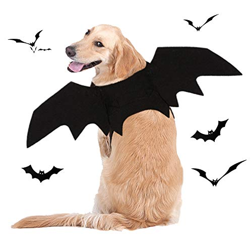 BWOGUE Dog Costume Halloween Pet Bat Wings Cosplay Apparel for Small to Large Sized Dogs Party Decoration,Medium