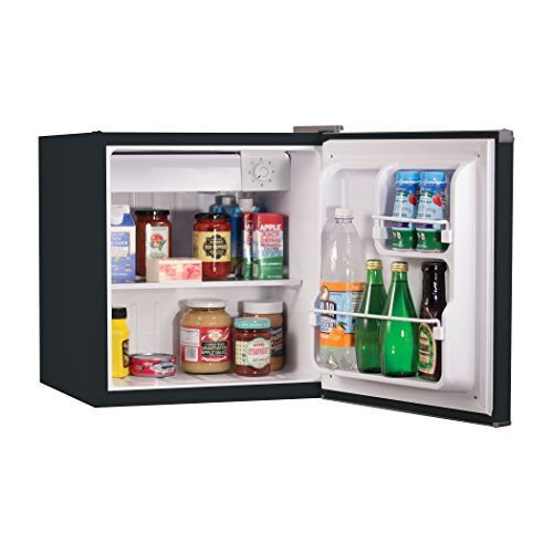 BLACK+DECKER BCRK17B Compact Refrigerator Energy Star Single Door Mini Fridge with Freezer, 1.7 Cubic Feet, Black