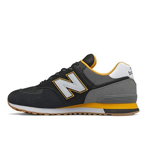 New Balance Herren ML574SKA Sneaker, Black Team Gold, 45.5 EU