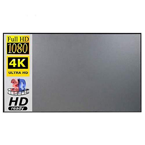 KOET Projektor-Leinwand, tragbar, 16:9 HD, 4K, faltbar, knitterfrei, tragbar, für Heimkino, für den Innen- und Außenbereich