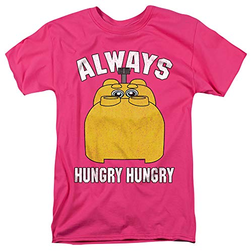 Hungry Hungry Hippos Hungry Unisex Adult T Shirt for Men and Women, Hot Pink, Small