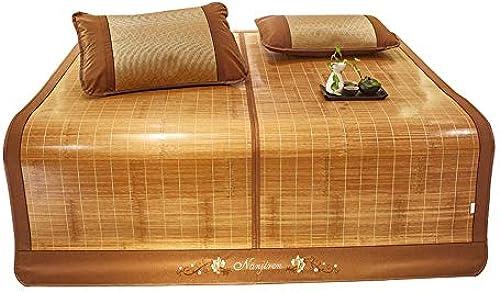 YONG FEI Bambusmatte - doppelseitig Faltbare Haushaltsseidenmatte für den Haushalt - in Sieben Grün erh lich Sommer-Schlafmatte (Größe   180X220cm)