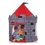 Humanity Casa de Juegos al Aire Libre de Interior del Castillo Gran Carpa surgen la Tienda de los niños Plegables Tipi (Color : Red and Gray)