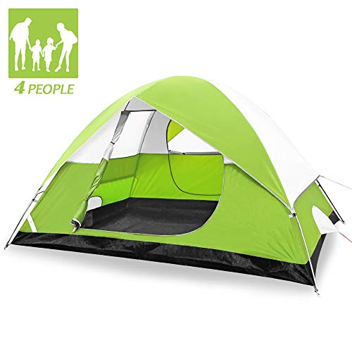 SKYLINKアウトドア テント ビーチ 防水 広い テント キャンプ 簡単 軽量 テント 日除け 4-6人用