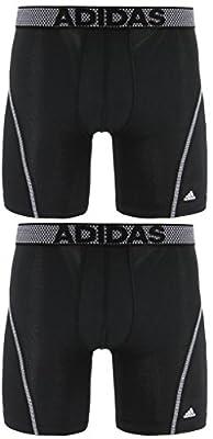 adidas Men's Sport Performance Mesh Midway Underwear (2-Pack), Black/Grey Black/Grey, MEDIUM