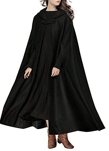 Romacci Women Hooded Cloak Cape Hal…
