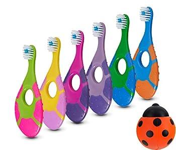 6 Pack - Baby Toothbrush 0-2 Years Soft Bristles BPA Free | Toddler Toothbrush Infant Toothbrush Training Toothbrush Includes Free Toothbrush Holder