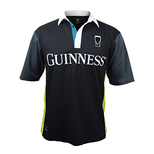 Guinness Black and Yellow Stripe Rugby Jersey (Large)