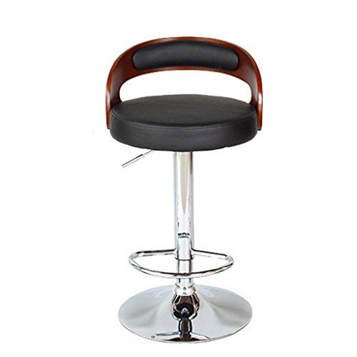 Ali@ Chaises de bar élégantes Chaise de bar Tabourets de bar Chaise de dossier en bois massif Chaises de réception Tabouret haut (Couleur : NOIR)