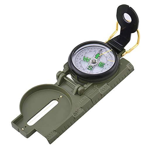 Prismáticos Militar prismático de mira compás de múltiples funciones compases plegables de metal...