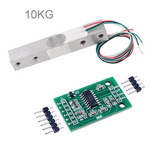 Stemedu Celda de carga 10 kg Amplificador AD HX711 Módulo Breakout Digital Portátil Cocina Báscula de Peso Sensor de Pesaje para Arduino Raspberry Pi