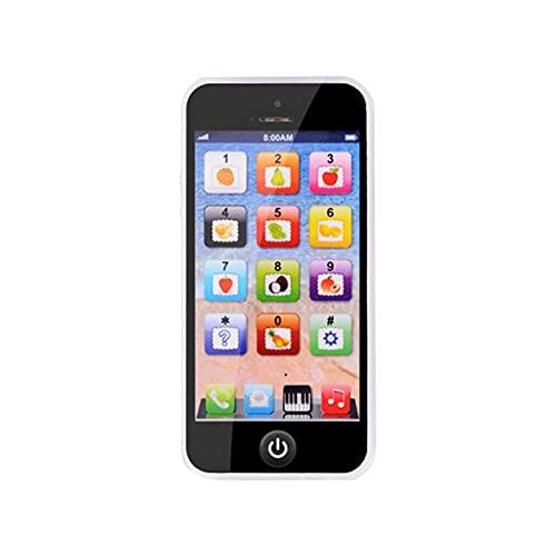 Nihlsen Simulación de música en inglés, Juguete Ligero para Aprendizaje, teléfono móvil, máquina de Historias, Juguete de educación temprana, teléfono móvil con Cable USB