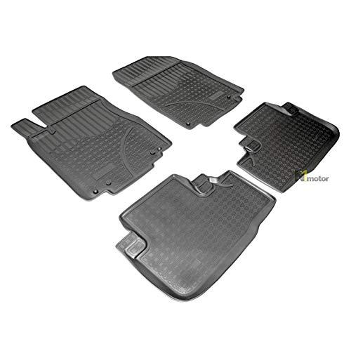 mächtig J & J AUTOMOTIVE Allwetter-Gummi-Fußmatten 4 TPE-Gummi-Fußmatten für Honda CR-V 2012-2017