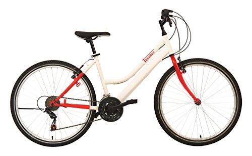 """F.lli Schiano Mountain Thunder Lady Bicicletta da Donna, Bianco/Rosso Opaco, 26"""""""