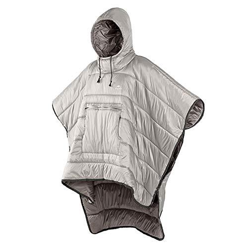 Tentock Erwachsene Multifunktions Winter Poncho - Warmen Outdoor-Mantel für Strandreisen(Khaki)