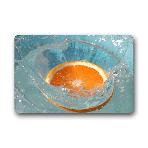 Doubee Paillasson Design Cerise Fruit Orange Premium Tapis Anti-Poussière passwort en Plein air intérieur 46 cm x 76 cm, Tissu, D, 18\