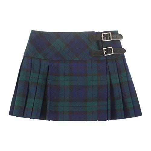 The Kilt Baby Girls Luxury Scottish Billie Kilt/Mini Skirt Available in 3 Tartans New (7-8 Years, Black Watch)