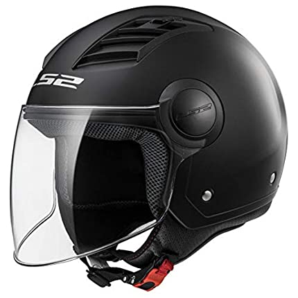 LS2, casco moto jet Airflow negro mate, L