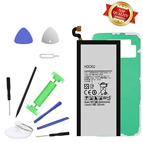 HDCKU Battery Replacement for Samsung Galaxy S6 All G920 Model with Replacement Tools and Instruction