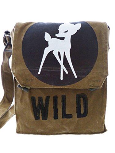wild, schwarz, recycling tasche, oliv