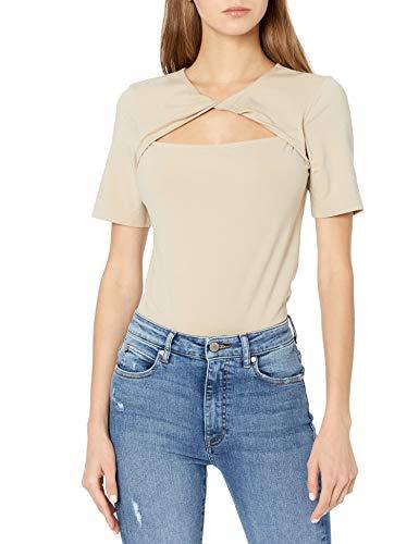 The Drop Astrid T-shirt pour Femme, en Jersey Extensible, avec Torsade sur le Devant