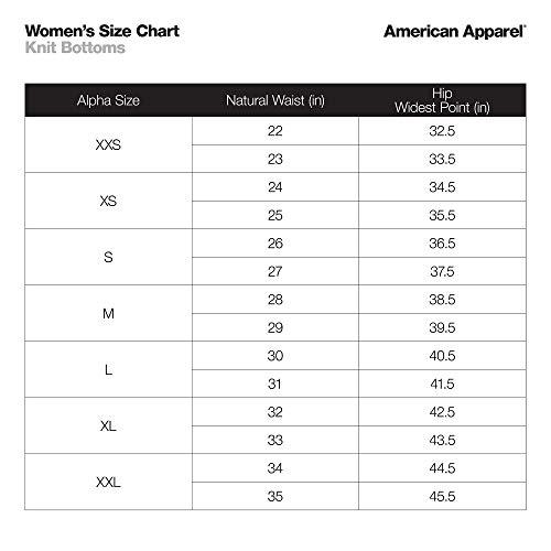 American Apparel Women's Nylon Tricot High Waist Legging, Black, S