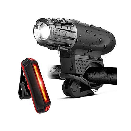 Fahrradleuchten vorne und hinten USB wiederaufladbare Fahrradleuchte Set Super helle LED-Scheinwerfer für Taschenlampe vorne und hinten
