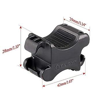 Olight FB-1 Support de vélo universel pour lampe de poche de diamètre max. de 10 mm à 35 mm, idéal pour le cyclisme, réglable, flexible et élastique