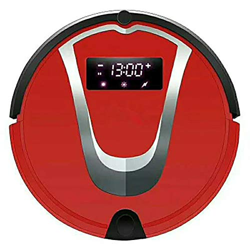 Review Of Robot Vacuum Cleaner [Mopping, Sweeping & Vacuuming], Smart Self-Charging Robotic Vacuum Automatic Sweeper with Remote for Pet Hair, Carpet, Hardwood Floors, Tile,Red