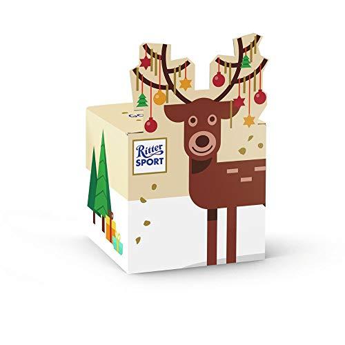 Ritter Sport Rentier-Würfel (12 x 83 g), 5 mini Goldschatz Schokoladen, mit edlem Trinitario-Kakao, ideal als kleines Geschenk, zu Weihnachten & Nikolaus