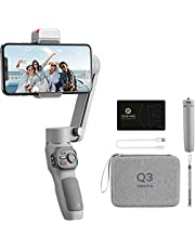 Zhiyun Smooth Q3 Combo, 3-Axis Gimbal Stabilizer for Smartphone Foldable Phone Gimbal with Light Auto Inception Dolly-Zoom Time-Lapse Handheld Stabilizer, Gimbal Bag photo