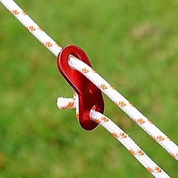 Bubuyun 30PCS Tendeur de Corde Tendeur de Tente Ajusteur de Corde Tendeur de Corde en Alliage d'Aluminium Boucle de Corde ajusteur pour Tente Bâche Randonnée Camping Activités de Plein Air