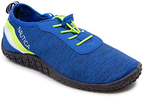 Nautica Mens Athletic Water Shoes Aqua Socks Quick Dry Slip on Elastic Lace Sandals Wesson Royal product image