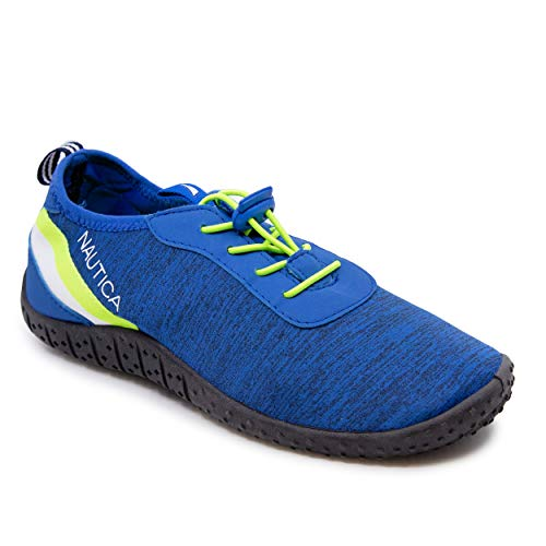 Nautica Mens Athletic Water Shoes | Aqua Socks |Quick Dry | Slip-on/Elastic Lace Sandals -Wesson-Royal-7