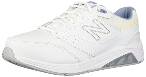 New Balance Women's 928 V3 Walking Shoe, White/Blue, 8.5 W US