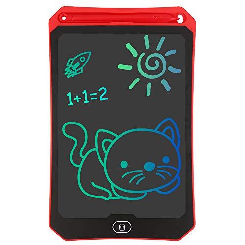 Vegena Tablette d'Ecriture LCD 8,5 Pouces Portable Tablette Numérique avec Le Stylo d'¨¦criture et Le Dessin sans Papier pour Enfants, Adultes (Rouge)