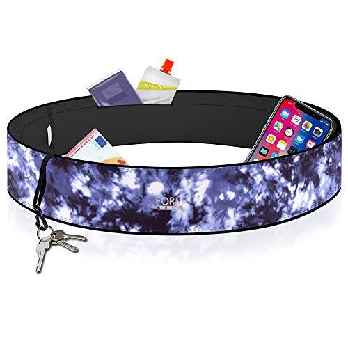 Formbelt® Laufgürtel für Handy Smartphone iPhone 8 X XS XR 11 6-s 7+ Plus Samsung Galaxy S7 S8 S9 S10 Edge Hüfttasche für Sport Fitness Laufen Bauchtasche zum Laufen (deep Navy Print, L)