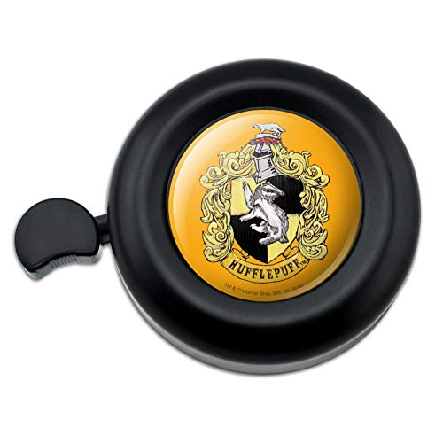 GRAPHICS & MORE Harry Potter Hufflepuff Painted Crest Bicycle Handlebar Bike Bell