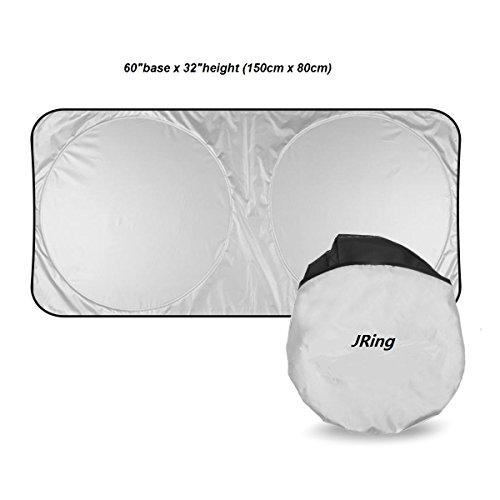 JRing Protector de Parabrisas para, Calor Excelente de UV y Reflector del Sol, Tamaño Flexible para SUV, Carro, Coche Apto del Parabrisas Grande o Pequeño (150x80 CM)