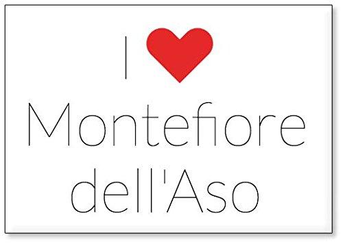 - Io Amo Montefiore dell'Aso, calamita da frigo (Design 3)