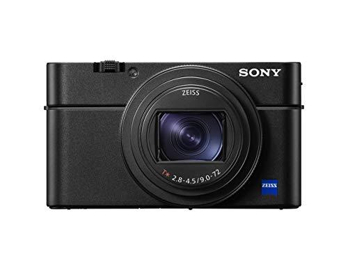 Sony DSC-RX100M7 - Cámara compacta (Sensor CMOS 1.0 de 20.1 MP, Zoom 24-200 mm, F2.8-4.5, grabación de vídeo 4K, AF de 0.02 s, Disparo contínuo hasta 24 fps) Negro