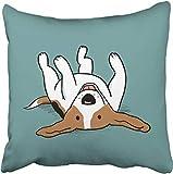 GFGKKGJFD424 Kissenhülle, Beagle, 45 x 45 cm, Sofakissen, Kissenbezug für Teenager, Mädchen