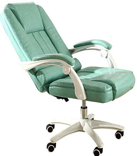 N/Z Life Equipment Game Chair Computer Chair Materials Soft Built in Lumbar Cushion Office Chair Technical Treatment Armchair (Color : Green)