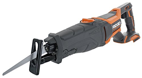 Ridgid R8642 Gen5X 18-Volt Lithium Ion Cordless Reciprocating Saw with Tool-Free Blade Changing, Sight Line Blowing and Variable Orbital Settings (Renewed)